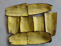 PLANTS OF HONOUR; BANANA SKIN PLANTAINS Royalty Free Stock Images