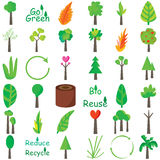 Plants Icon Set Stock Image