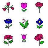 Plants icons Royalty Free Stock Photo