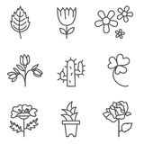 Plants icons Stock Images