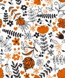 Plants pattern Royalty Free Stock Photography