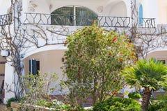 Plants in Poltu Quatu. Plants and balcony in Poltu Quatu, Sardinia Stock Photography