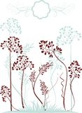 Plants Silhouettes Royalty Free Stock Image