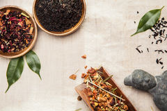 Plants, symbol of traditional Chinese medicine Royalty Free Stock Image