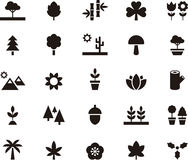 PLANTS & TREES glyph icons Stock Photography