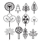 Plants and Trees nature set icons Stock Photo