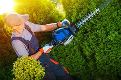Plants Trimming Works Stock Images