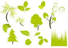 Plants and vegetation designs. On white background vector illustration