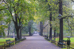 Planty - city park in Krakow, Poland. Tourists destination royalty free stock photography