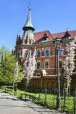 Planty city park and seminary for Catholic priests, Krakow, Pola. Nd. Tourists destination stock photos
