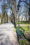 Planty park walk in springtime, Krakow, Poland Stock Photos