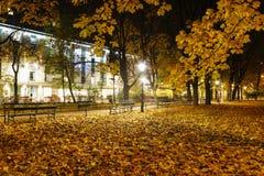 Planty - stadspark in Krakau, Polen Stock Afbeeldingen