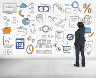 Planu Biznesowego budżeta celu taktyk pomysłów pojęcie Obraz Royalty Free