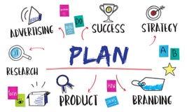 Planu Biznesowego celu diagrama Inwestorski pojęcie Zdjęcia Stock