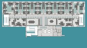 Planu budynek biurowy ilustracji