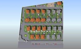 Planu mistrzowskiego mieszkaniowy kompleks Zdjęcia Stock
