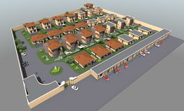 Planu mistrzowskiego mieszkaniowy kompleks Zdjęcie Stock