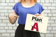 Planu pojęcie niebieska dziewczyna chwyty Obraz Stock