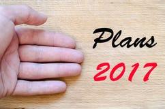 Planu teksta 2017 pojęcie Zdjęcia Stock
