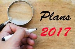 Planu teksta 2017 pojęcie Zdjęcie Royalty Free