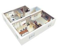 Planu widok apartmen ilustracji