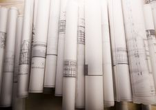 planuje architektury fotografia royalty free
