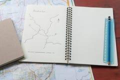 Planuje twój podróż dla miejsca przeznaczenia Zdjęcie Stock