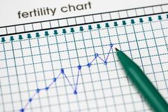 Planung der Schwangerschaft Das Ergiebigkeitsdiagramm Lizenzfreie Stockfotos