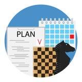 Planung der Strategie und der Taktiken stockbild