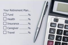 Planung der Zukunft nach Ruhestand lizenzfreie stockfotos
