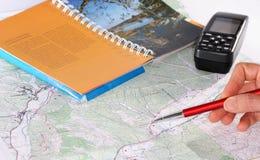 Planung des Abenteuers Stockbilder