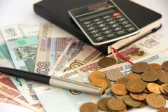 Planung des Budgets Stockfotografie