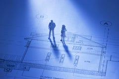 Planung eines Hauses Stockbilder