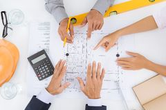 Planung eines Hausprojektes Stockbilder