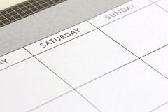 Planung eines Wochenendes Lizenzfreie Stockfotografie
