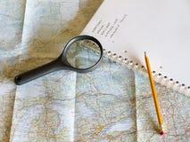 Planung meiner Reise Stockfotos