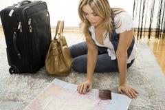 Planung meiner Reise stockfoto