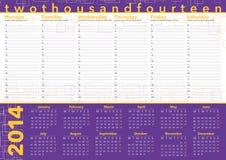 Planung 2014 mit europäischen Sprachen Stockfotografie