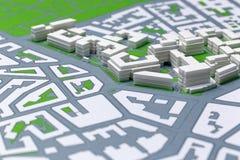 Planung von einem Disctrict, Karte Stockbilder