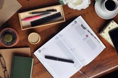 Planung/Zeit-Management/Tagebuch 5 Lizenzfreies Stockbild
