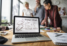 Planungs-Entwurfs-Produkt-Arbeits-Konzept stockfotografie
