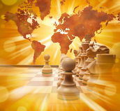 Planungs-Geschäfts-globales Strategie-Schach Lizenzfreies Stockfoto