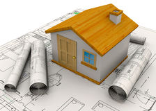 Planungs-Hauptkonzept - 3D Stockfoto