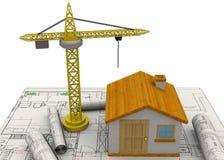 Planungs-Hauptkonzept - 3D Stockbild