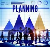 Planungs-Plan-Strategie-Richtungs-Ideen-Ziel-Konzept Stockbild