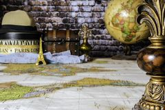 Planungs-Reise nach Paris Frankreich Lizenzfreies Stockbild