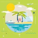 Planungs-Sommer-Ferien, Tourismus und Reise stock abbildung