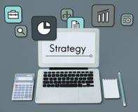 Planungs-Strategie-Marketing-Startikonen-Konzept stock abbildung