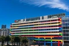 Planungs- und Führungsstab von NAB auf Bourke-Straße, Docklands, Melbourne stockfoto