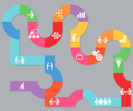 Planungs- und Zusammenarbeitsillustration Stockfoto